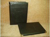 Leather Menu Cover With Inside Decorative Screws And Cases