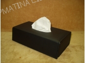 PU Leather Tissue Box Black