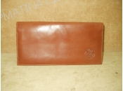 Leather Checkbook Wallet