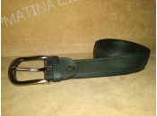 Leather Belt Classic - green